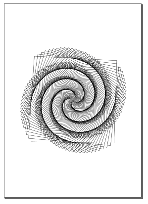 The spiral shape from Berkeley Logo in Inkscape ready for plotting.