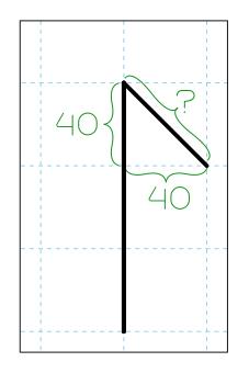 Cistercian Numeral 3 Angle
