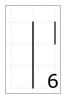 Cistercian numeral for six